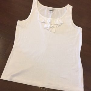 CHRISTOPHER & BANKS White Cotton Tank
